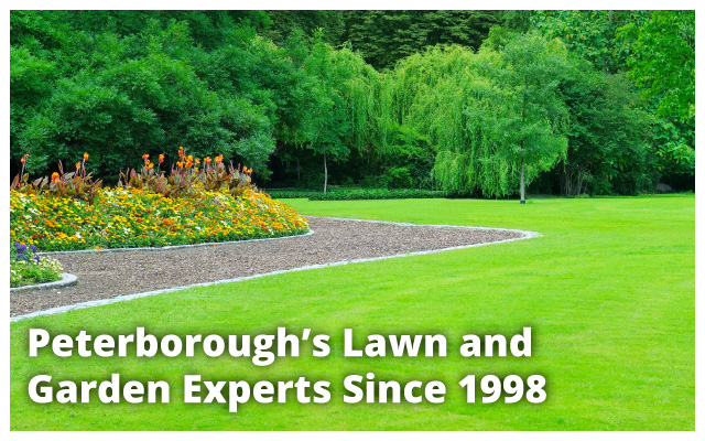 Peterborough's Lawn and Garden Experts Since 1998 | freshly mowed and landscaped yard